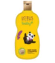 Lotus Herbals Baby Plus Baby Wash & Shampoo Brand Packaging Design In Yellow Shade With Panda In It