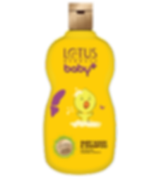 Lotus Herbals Baby Plus Baby Wash & Shampoo Brand Packaging Design In Yellow Shade With Chick In It