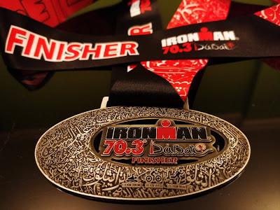 Ironman 70.3 Dubai winning medal