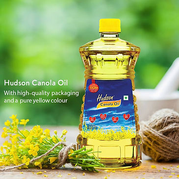 •	Hudson Canola Oil Old Packaging