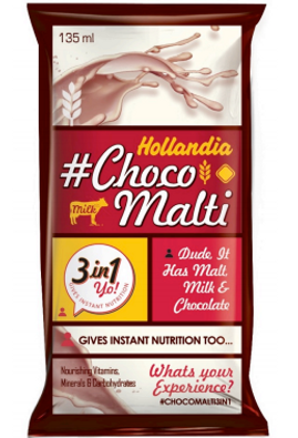 Hollandia Choco Malti 3in1 packaging exploration