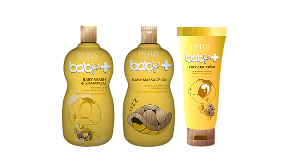 Lotus Herbals Baby Plus Brand Creation Packaging In Yellow Color