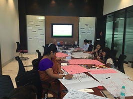 Name creation workshop conducted along with the brand team