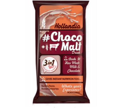 Hollandia  Choco Malt Drink conversation packaing