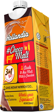 Hollandia Choco Malt Drink packaging
