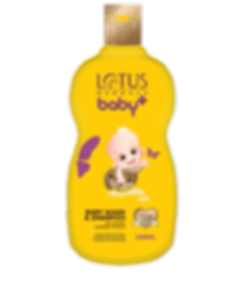 Lotus Herbals Baby Plus Baby Wash & Shampoo Brand Packaging Design With Baby In Turtle Shell