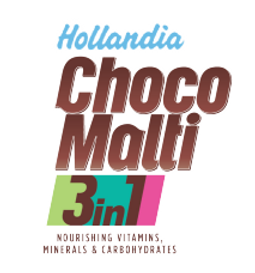 Hollandia Choco Malti 3in1 logo indentity