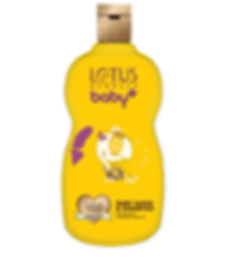 Lotus Herbals Baby Plus Baby wash & Shampoo Brand Design  In Yellow Shade With Turtle