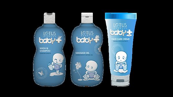 Lotus Herbals Baby Plus Brand Design Packaging In Blue Color