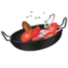Dancing mix vegetable in a non stick frying pan