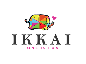 "Ikkai ""One Is Fun"" logo exploration first attemt with elephant"