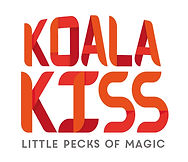 "Kola kiss ""Little Pecks Of Magic"" logo exploration in red & orange color"
