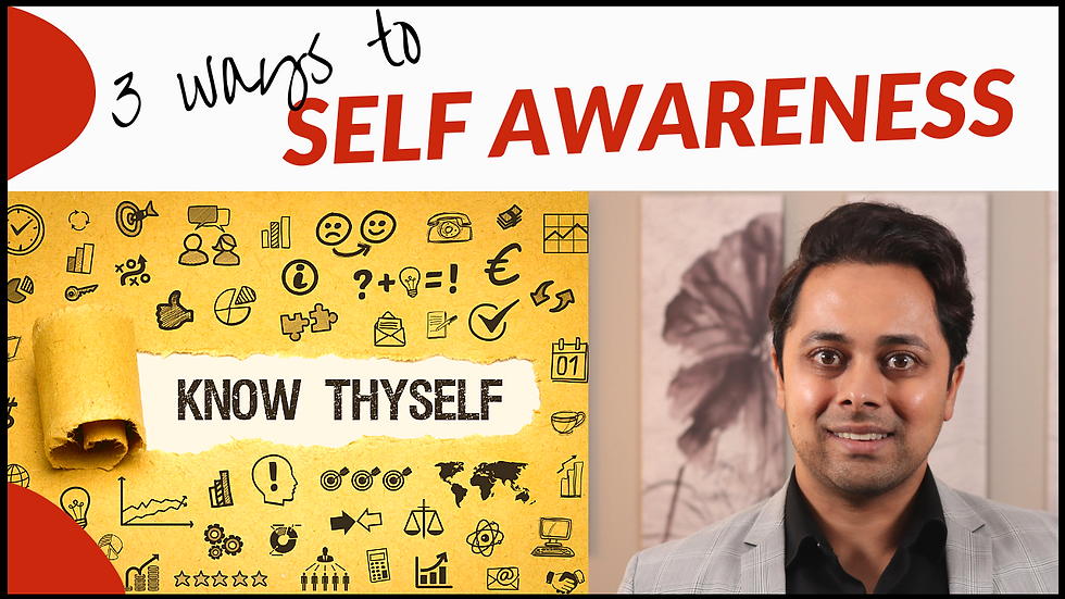 How to KNOW YOURSELF - 3 EASY ways to DEVELOP self awareness | Dr Suri