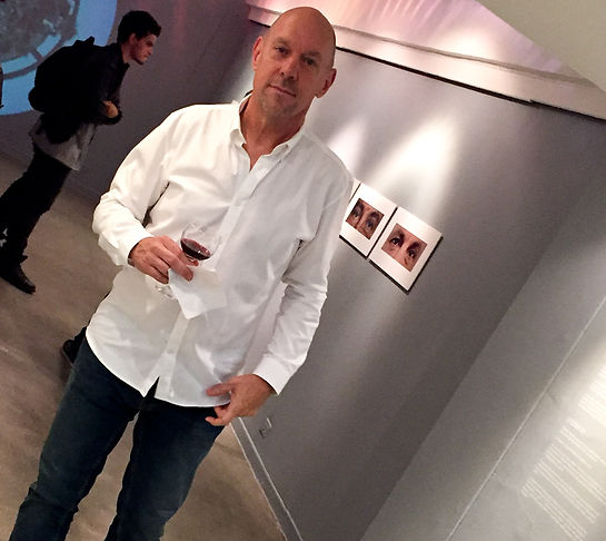 Dennis Hodges at his show opening in Medellin, Colombia
