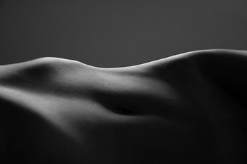 Abstract of a female reclining torso