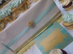 Or Turquoise blanc et beige