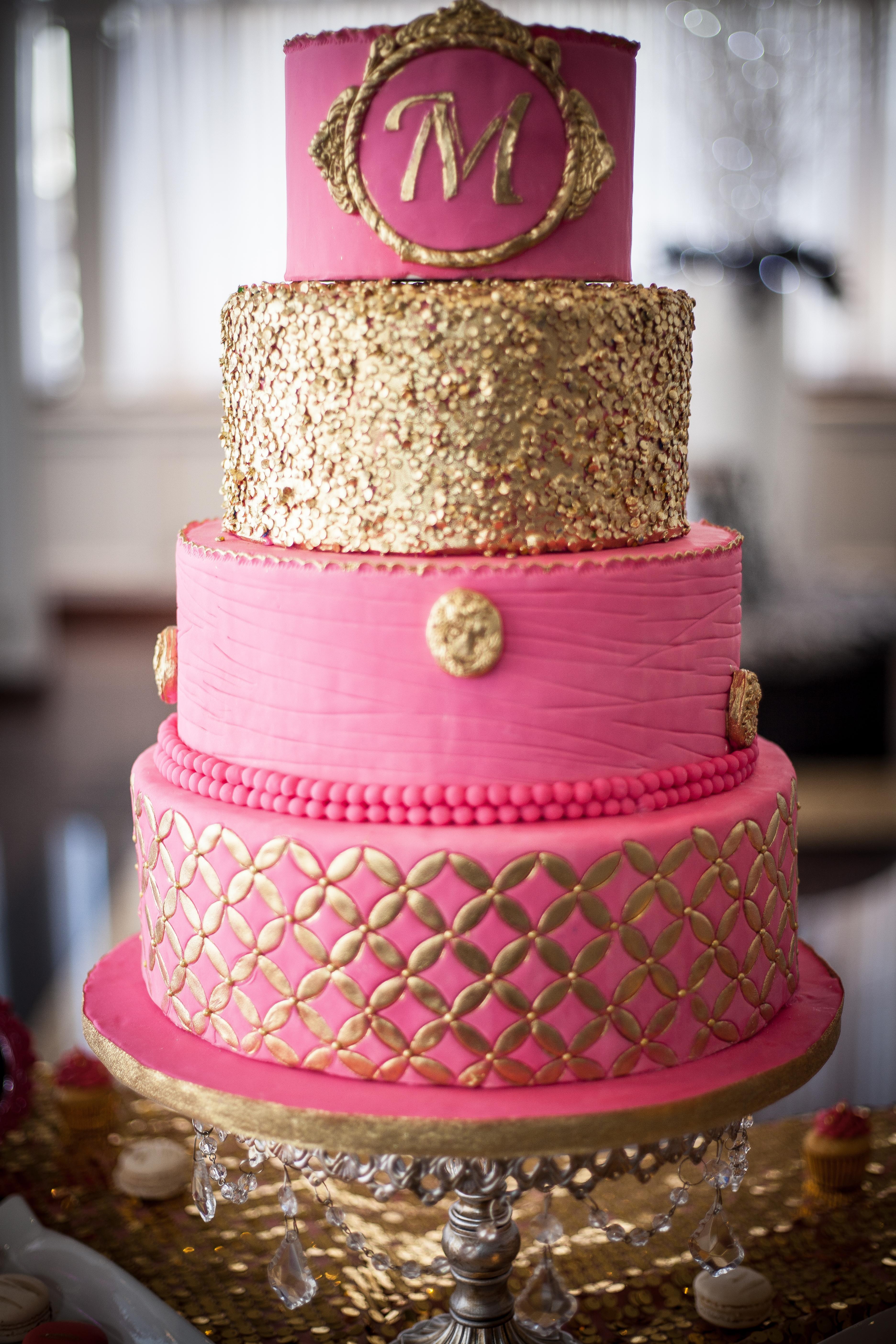 The golden pink by M / La rose dorée