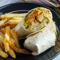 Grilled buffalo chicken sandwich wrap wi