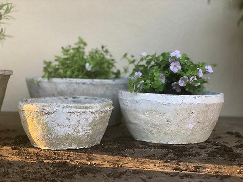 Antiqued Whitestone Bowls