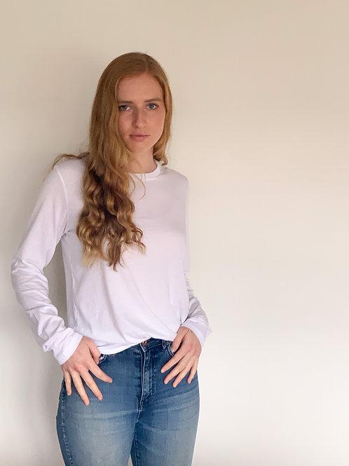 Claudia L/S Tee White