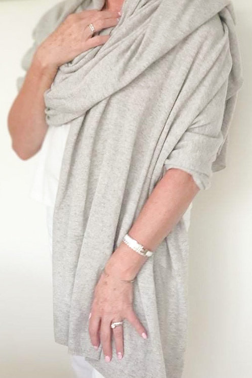 Dove Grey Marle Cashmere Wrap