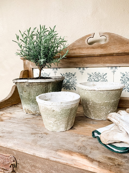 Antiqued Whitestone Standard Pots