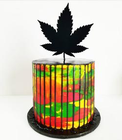 multicolor drip cake