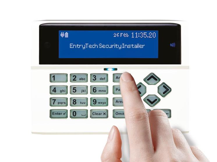 Alarm Keypad with Entrytech Security Installer
