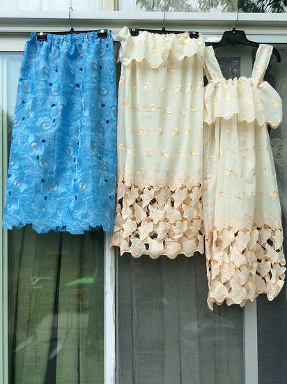 Lace Skirt and bathing suite cover