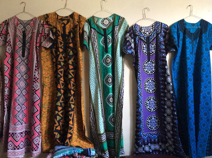Short Sleeve Ankara Dresses