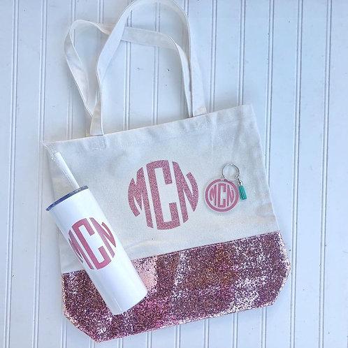 Glitter Monogram Gift Set