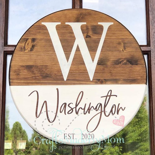 Personalized Wooden Door Hanger