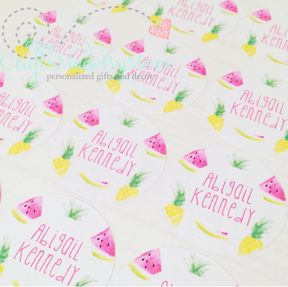 Personalized Stickers--perfect for back to school!