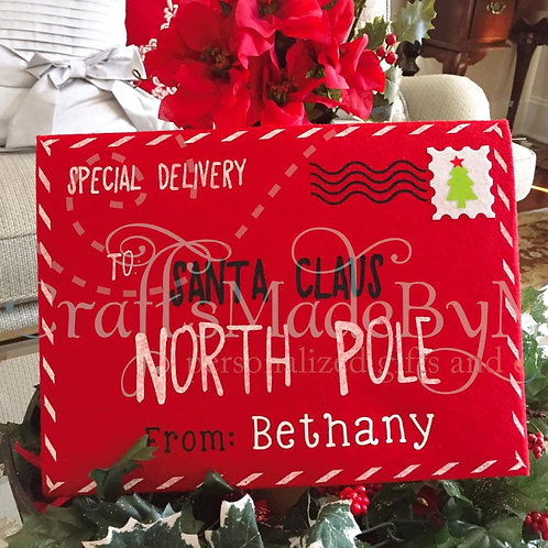 Personalized Special Delivery Felt Envelope