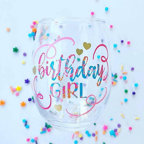 Birthday Girl Glass