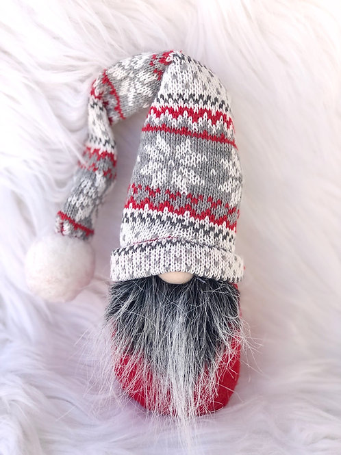 Gnome Family-Medium Red & Grey
