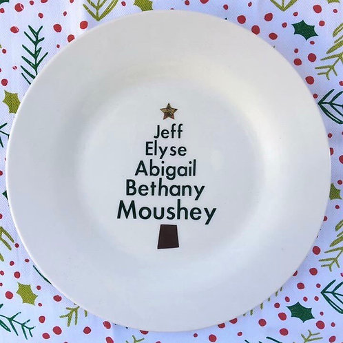 Personalized Christmas Tree Plate