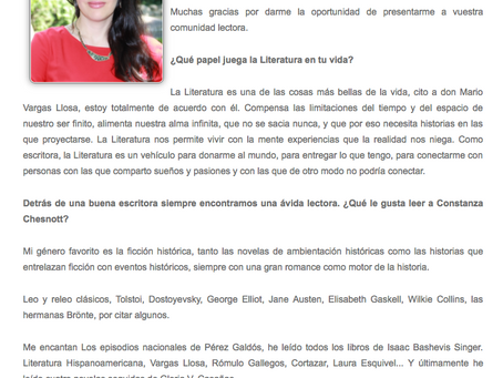 Entrevista en el Rincón de la novela romántica