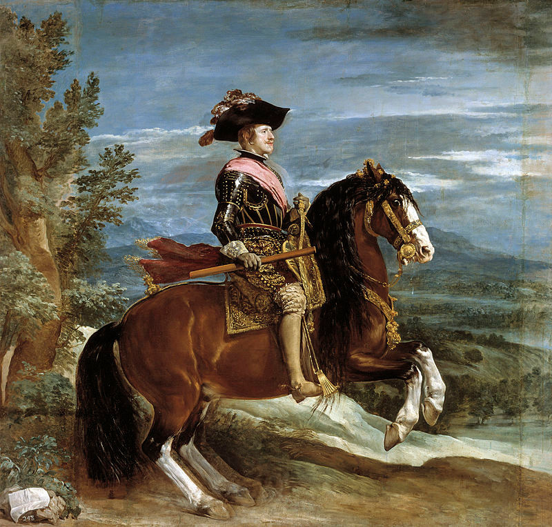 Obra de Velazquez, 1636. Felipe IV a caballo.