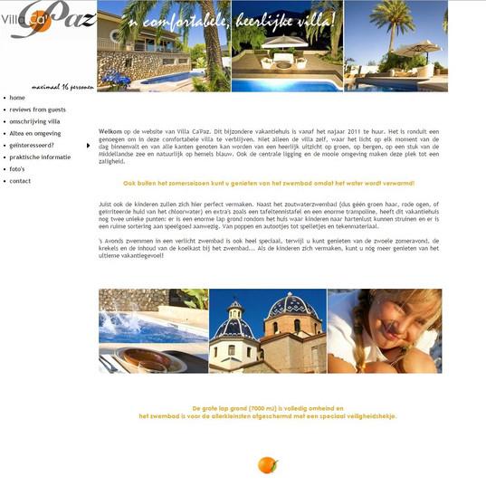 website huis Costa Blanca, vakantieverhuur