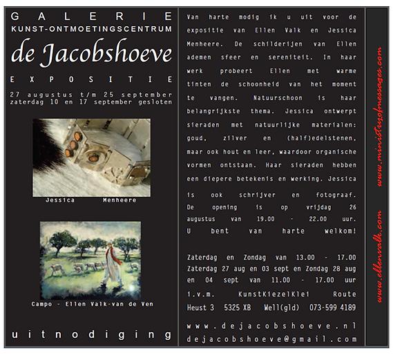 aankondiging expo galerie de Jacobshoeve