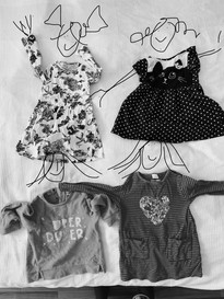 Giving away baby clothes for next family