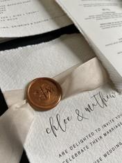 Cotton Handmade Wedding Stationery
