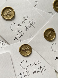 3D Bee Wax Seal Antique Gold | Save The Date