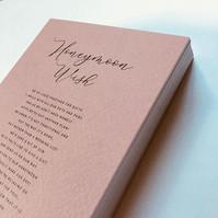 Honeymoon Wish Card