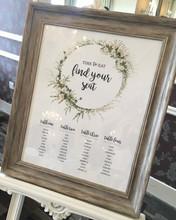 Wedding Table Plan / Seating Plan