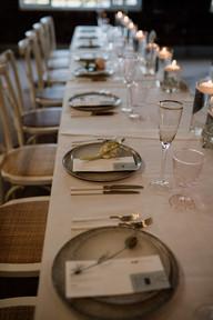 Larkspur Wedding Menu and Place Card