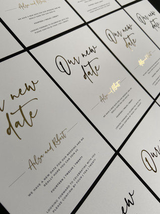 Gold Foil Our New Date