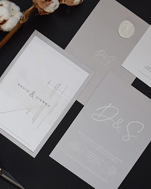 Initials Grey Wedding Stationery