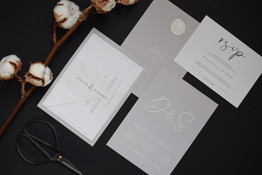 Initials Grey Stationery